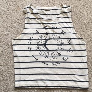 Urban Outfitters star sign crop top